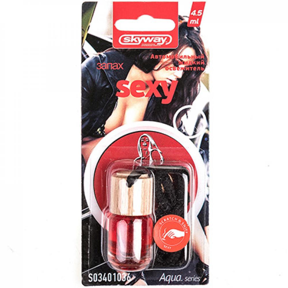 Купить Ароматизатор подвесной бутылочка с деревяной крышкой skyway aqua.series sexy s03401036