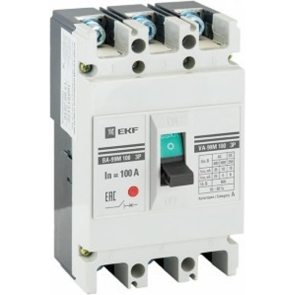 Автоматический выключатель ekf ва-99м, 100/ 20а, 3p, 35ка, proxima sq mccb99-100-20m