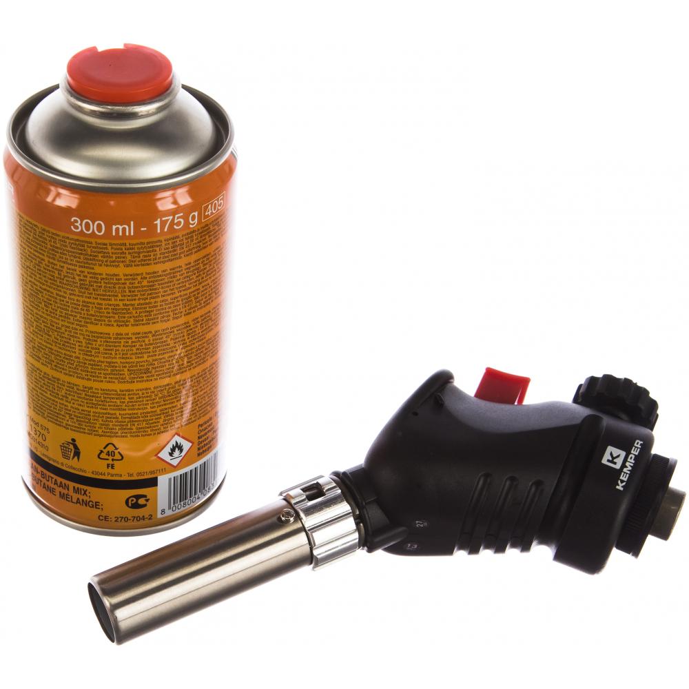 Газовая паяльная лампа kemper баллон арт.576 1060 kit с