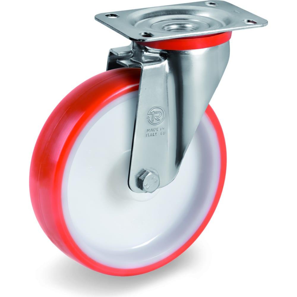 Купить Колесо поворотное с подшипником скольжения (150х35 мм; 220 кг; полиуретан/полиамид) tellure rota 604204