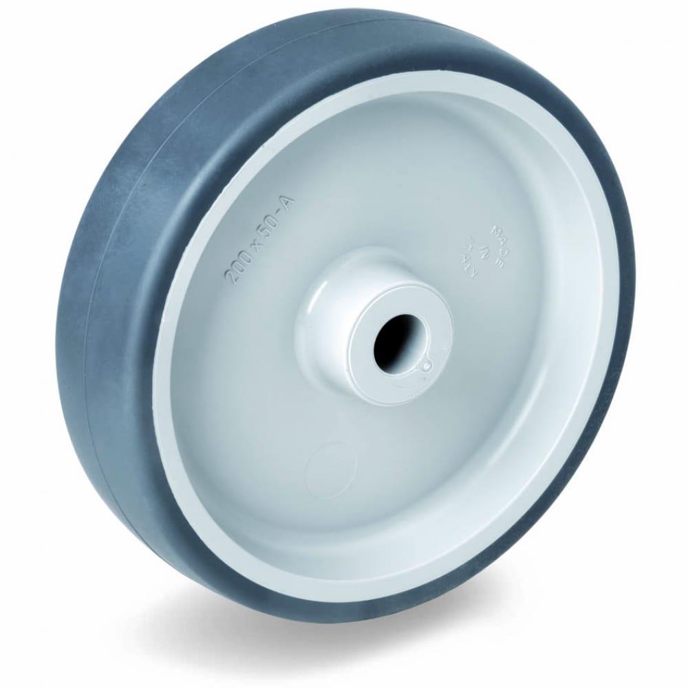 Купить Колесо с подшипником скольжения (150х35х15 мм; 140 кг; термопластичная резина/полипропилен) tellure rota 711105