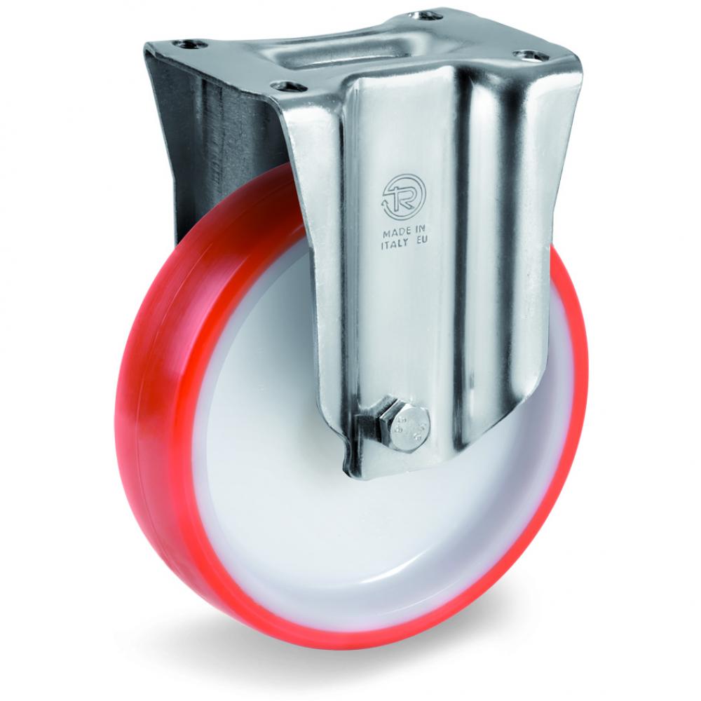 Купить Колесо неповоротное с подшипником скольжения (100х30 мм; 170 кг; полиуретан/полиамид) tellure rota 605702