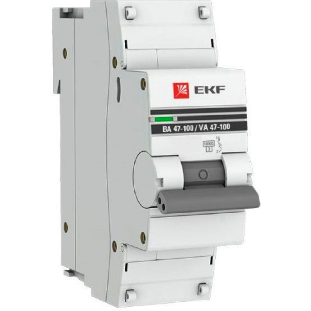 Купить Автоматический выключатель ekf proxima ва 47-100, 1p, 125а, d, 10ka, sq mcb47100-1-125d-pro