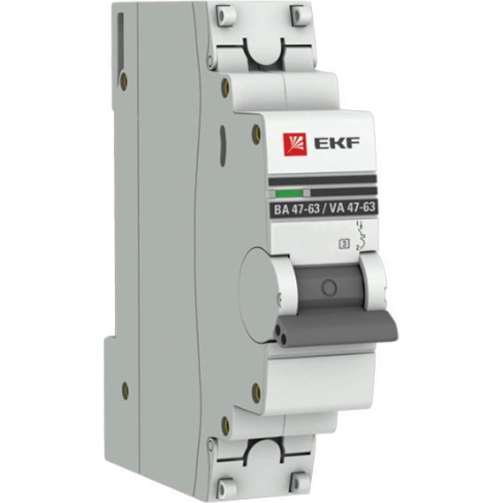 Купить Автоматический выключатель ekf proxima ва 47-63, 1p, 2а, d, 4, 5ka, sq mcb4763-1-02d-pro