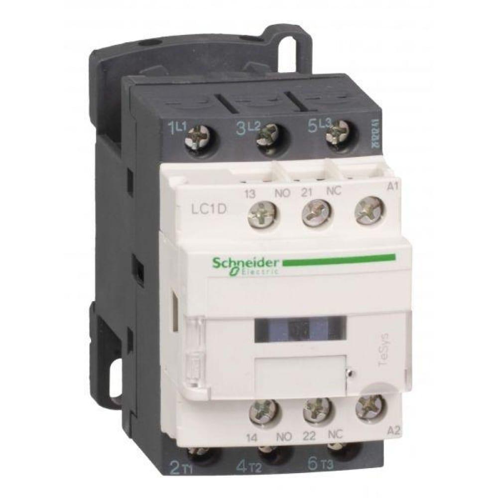 Контактор schneider electric 3п/9а d 1но+1н3 220v ac sche lc1d09m7.