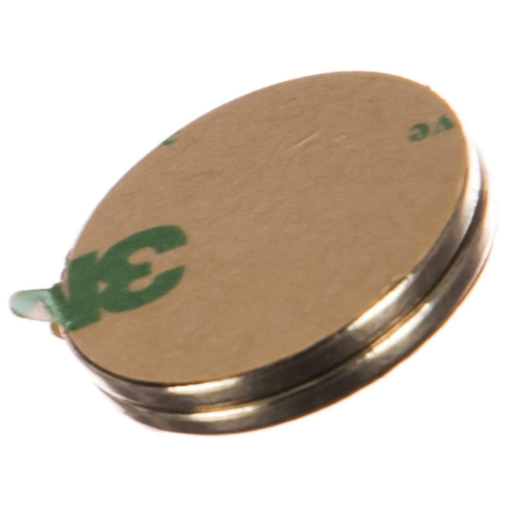 Неодимовый магнит диск 25х2 мм с клеевым