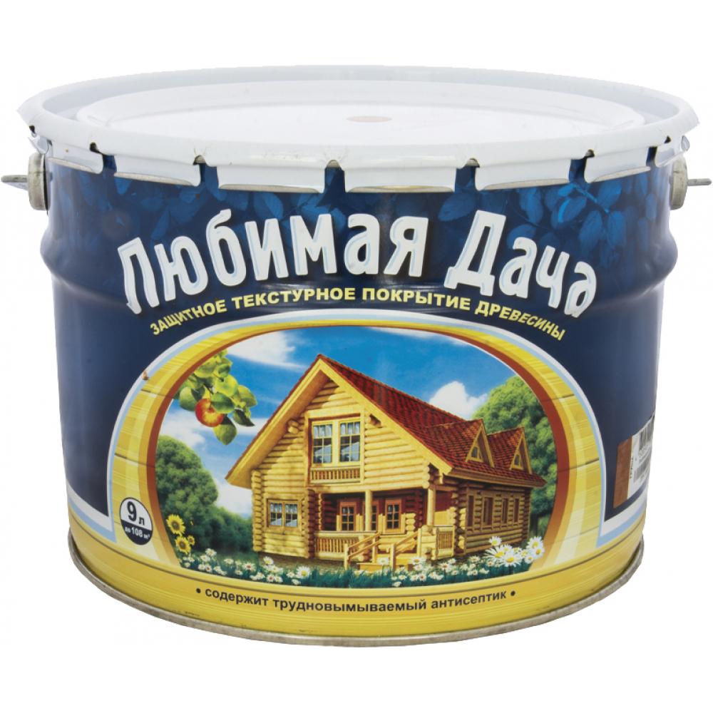 Защитно-декоративное покрытие для древесины  любимая дача тик 9 л 1 45322