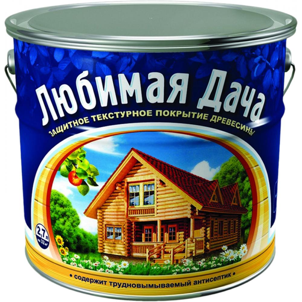 Защитно-декоративное покрытие для древесины любимая дача орегон 2.7 л 35273