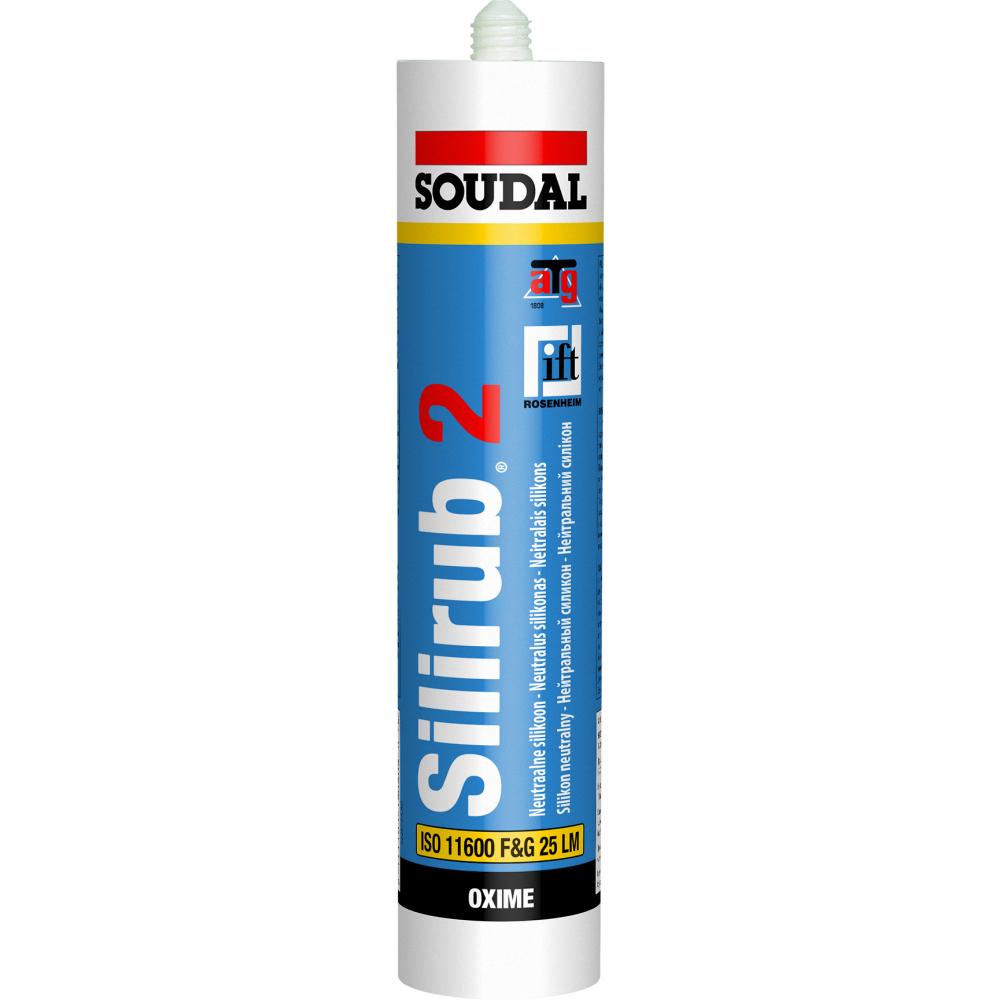 Купить Нейтральный силикон soudal силируб 2 черный 300 мл 15 шт. 102393