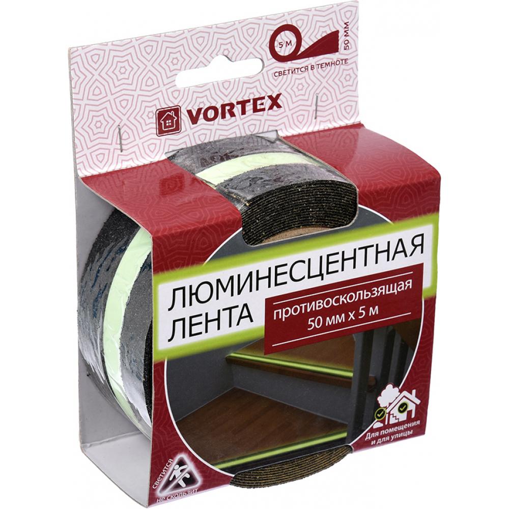 Картинка для Противоскользящая лента vortex 50 мм х 5 м сигнальная люминесцентная 24161