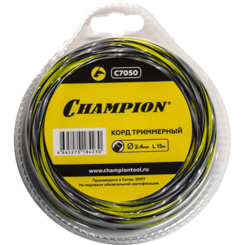 Купить Триммерный корд champion tornado 2.4 мм 15 м c7050