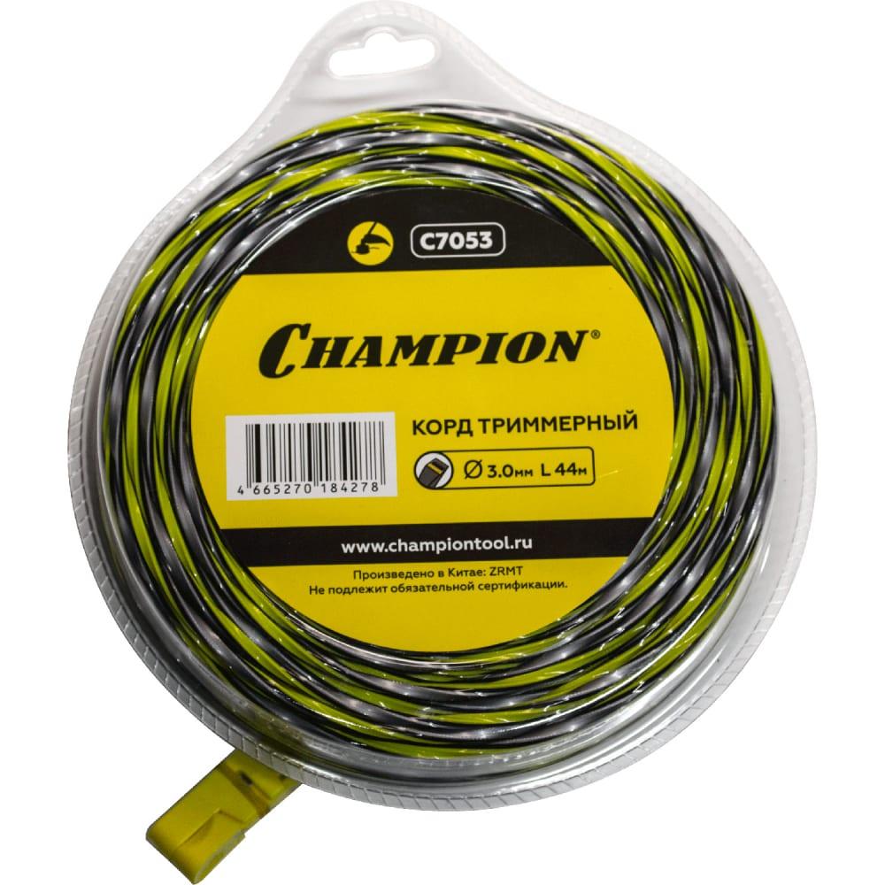 Купить Триммерный корд champion tornado 3 мм 44 м c7053