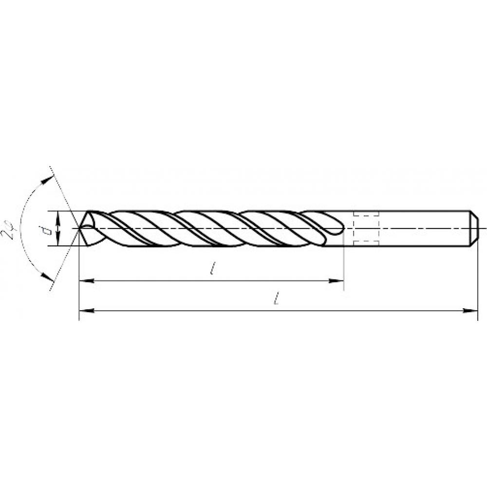 Концевая фреза туламаш с цилиндрическим хвостовиком 6x13x57