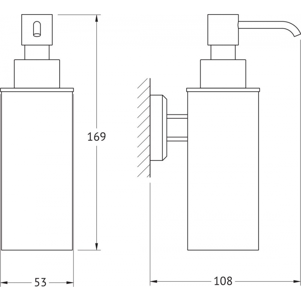 Дозатор жидкого мыла artwelle hagel хром 9932