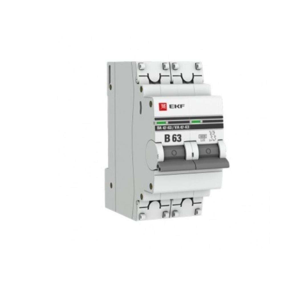 Автоматический выключатель ekf 2p 63а в 4,5ka ва 47-63 proxima sqmcb4763-2-63b-pro