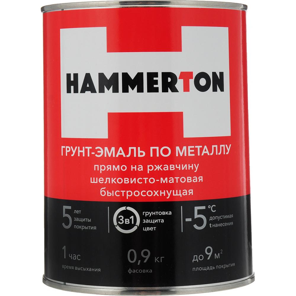 Купить Грунт-эмаль по ржавчине hummerton 3 в 1 серый 0.9 кг 14 205546