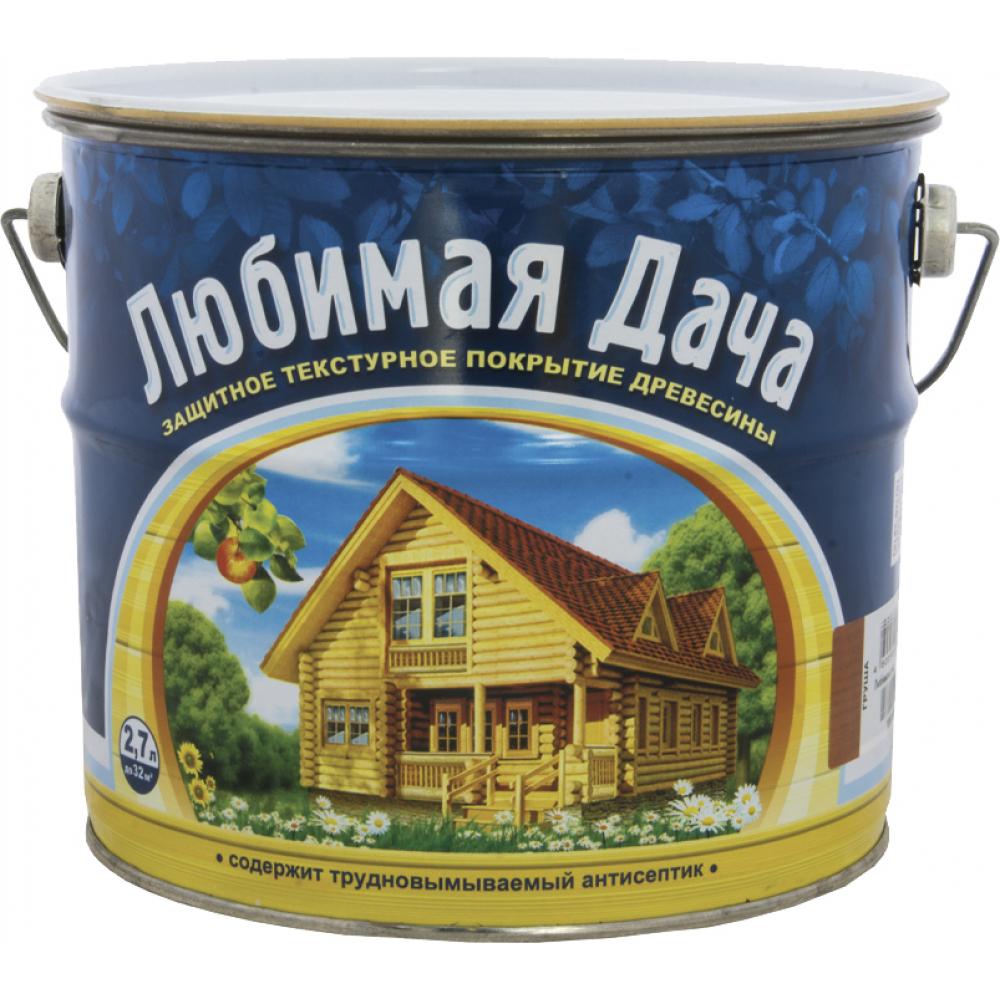 Защитно-декоративное покрытие для древесины любимая дача тик 2.7 л 4 35277