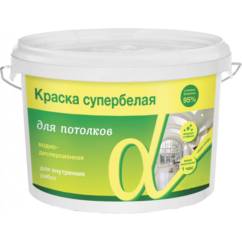 Купить Акриловая водно-дисперсная краска для потолков krafor альфа 3 кг 1 42752