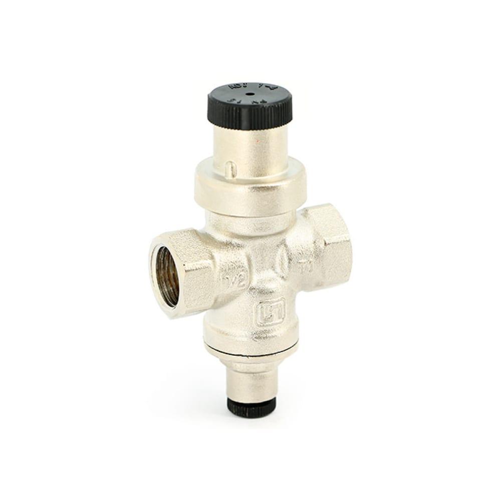 Купить Редуктор давления uni-fitt compact 1/2 в, никелированный, с отверстием под радиальный манометр 1/4 202n2140