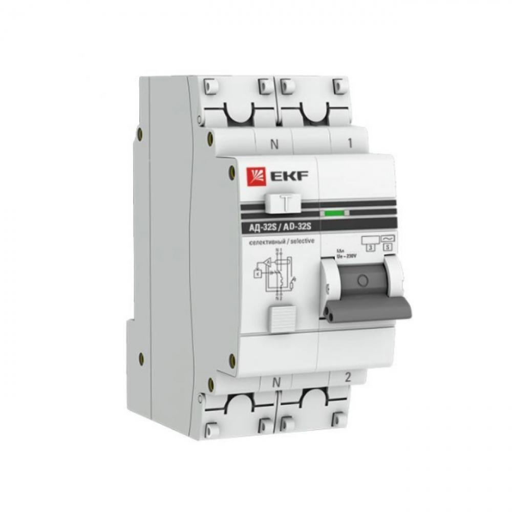 Купить Дифференциальный автомат ekf proxima ад-32 селективный, 1p+n, 40а/100ма, sq da32-40-100s-pro