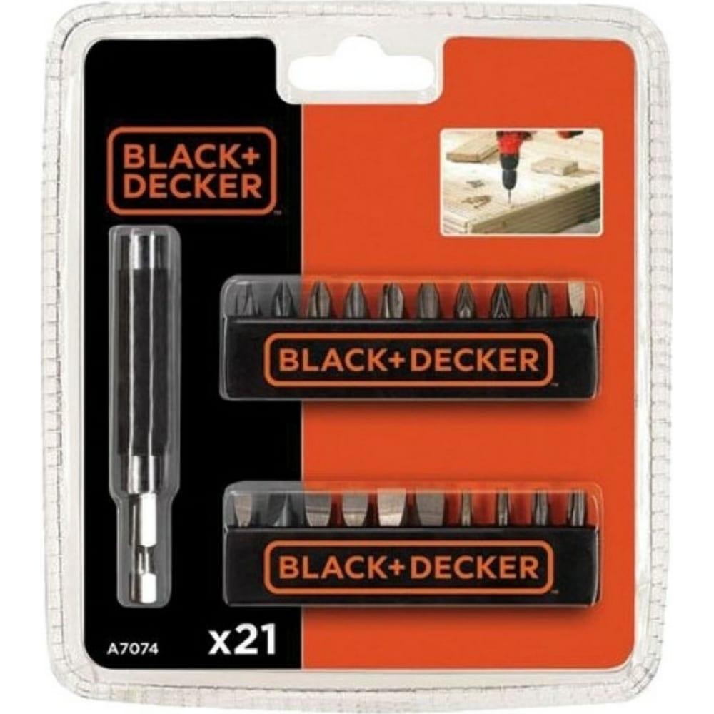 Купить Набор бит с держателем black&decker a7074