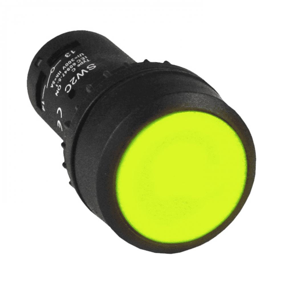 Кнопка с фиксацией ekf sw2c-11 proxima желтая no+nc sqsw2c-11f-y