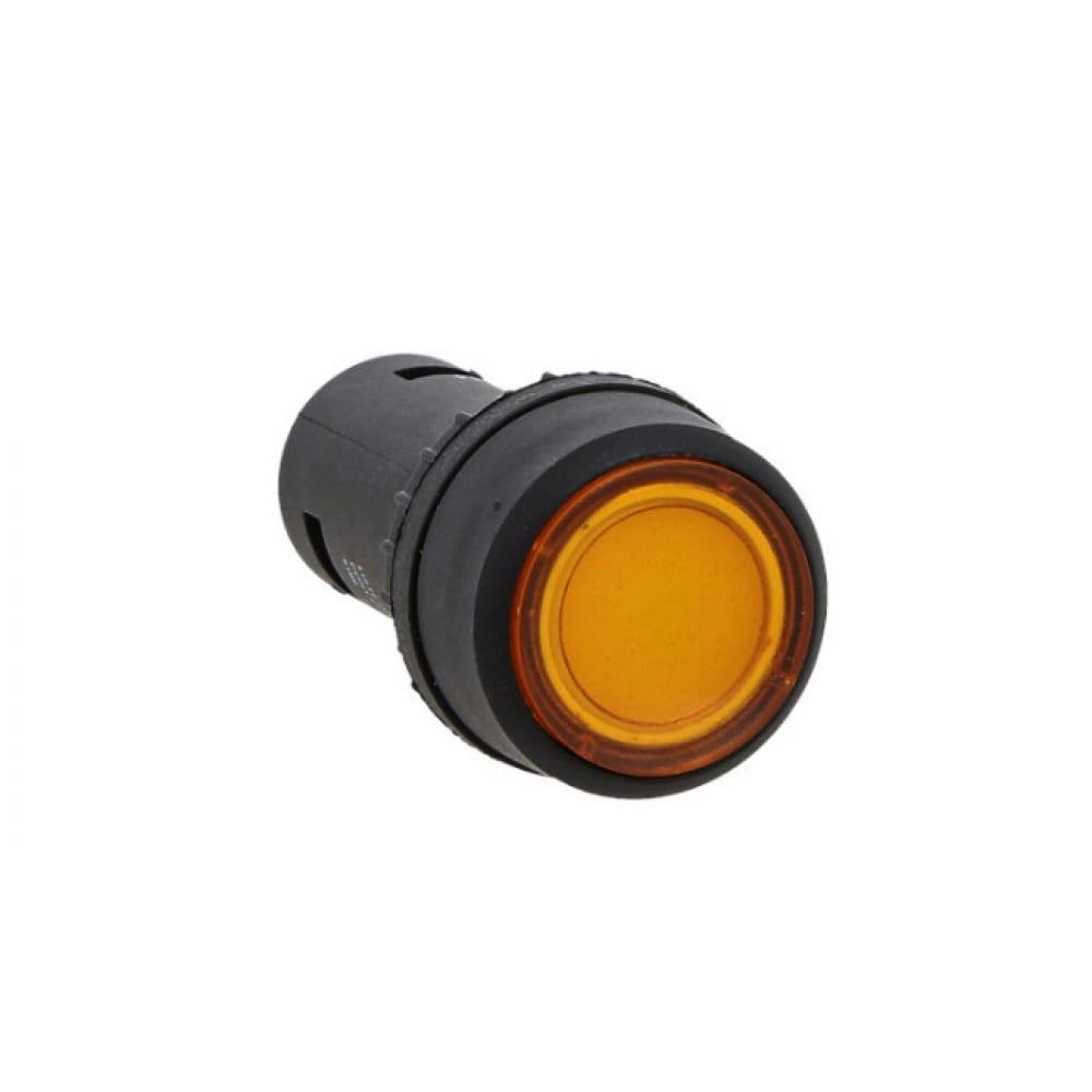 Кнопка с подсветкой ekf proxima sw2c-10d, желтая, no, 24в, sq sw2c-md-y-24