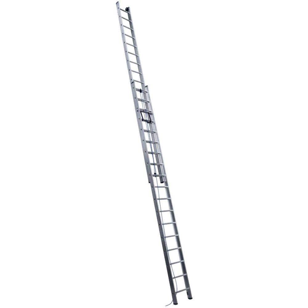 Купить Выдвижная алюминиевая трехсекционная лестница с тросом алюмет 3320 3х20 sr 3320