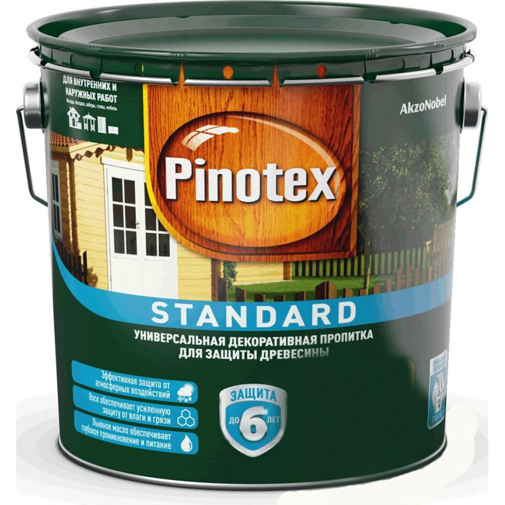 Антисептик pinotex standard палисандр 9л 5270600
