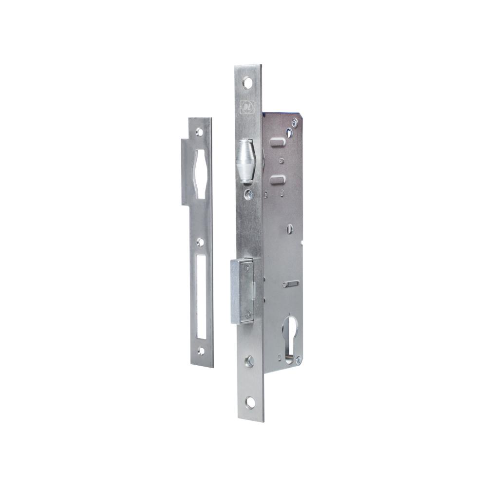 Корпус замка doorlock pl302 35/24 rt нержавеющая сталь, для профильных дверей, с роликовым ригелем 75351  - купить со скидкой