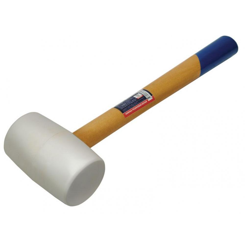 Купить Резиновая киянка usp белая, 84 мм, деревянная рукоятка, прямого типа 45405