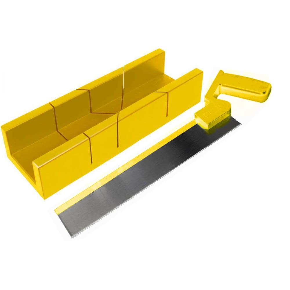 Купить Стусло usp с ножовкой, 297мм*65мм, прямоугольное, желтое 41232