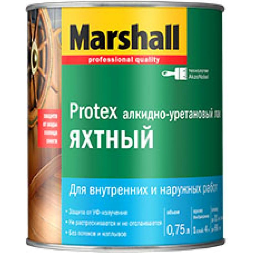 Лак marshall protex яхтный, полуматовый 9л 5255244