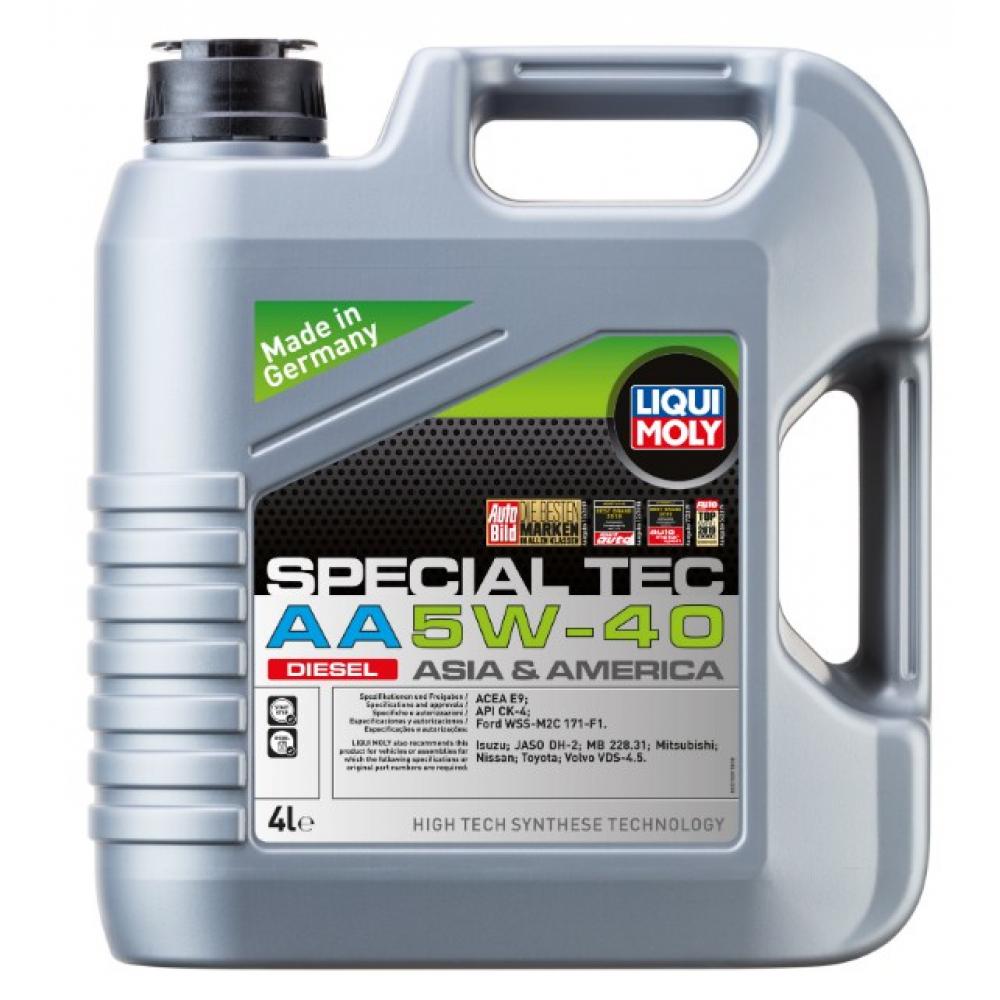 Купить Нс-синтетическое моторное масло special tec aa diesel (5w-40; ck-4; e9; 4 л) liqui moly 21331
