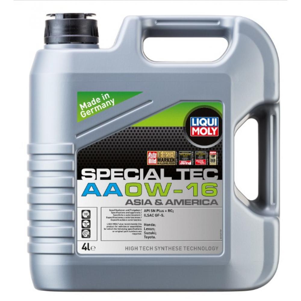 Нс-синтетическое моторное масло special tec aa (0w-16; sn plus + rc; gf-5; 4 л) liqui moly 21327