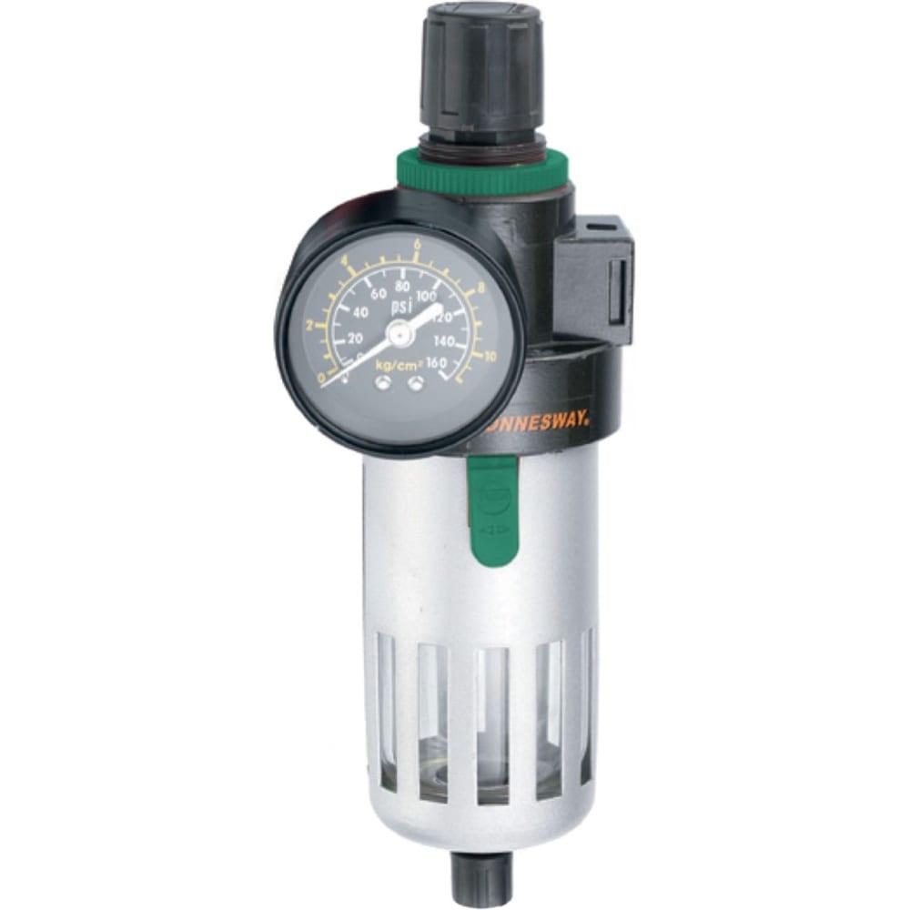 Купить Фильтр влагоотделитель jonnesway jaz-0533 с регулятором давления для пневмоинструмента 3/8 47508