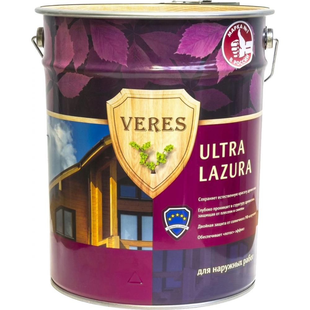 Купить Пропитка veres ultra lazura №8 дуб темный 9 л 1 205694