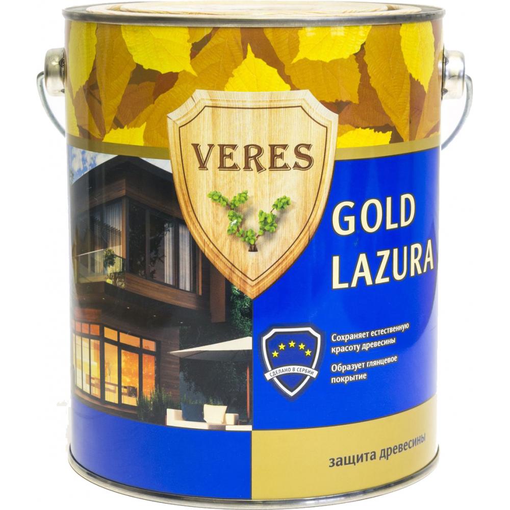 Купить Пропитка veres gold lazura №1 бесцветный 2.7 л 1/4 44931