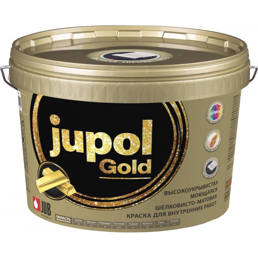 Купить Моющаяся краска jub jupol gold для внутренних работ база в 2000 4.75 л 1/2/72 48292