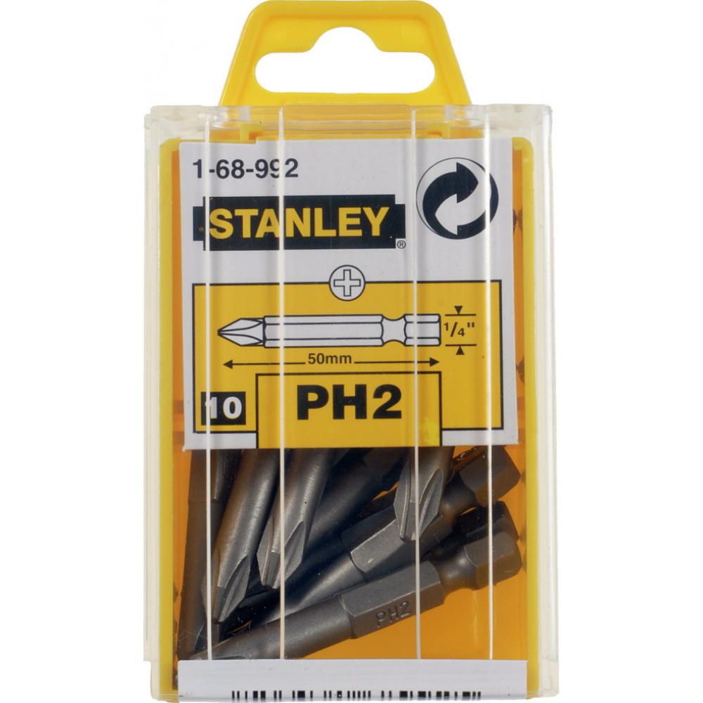 Купить Отверточная вставка stanley ph 2/50 мм 1/4 10 шт. 1-68-992