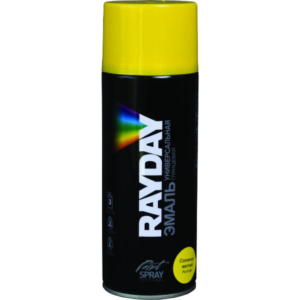 Купить Акриловая краска аэрозоль rayday солнечно-желтая 520 мл 12 pu-0120 134995