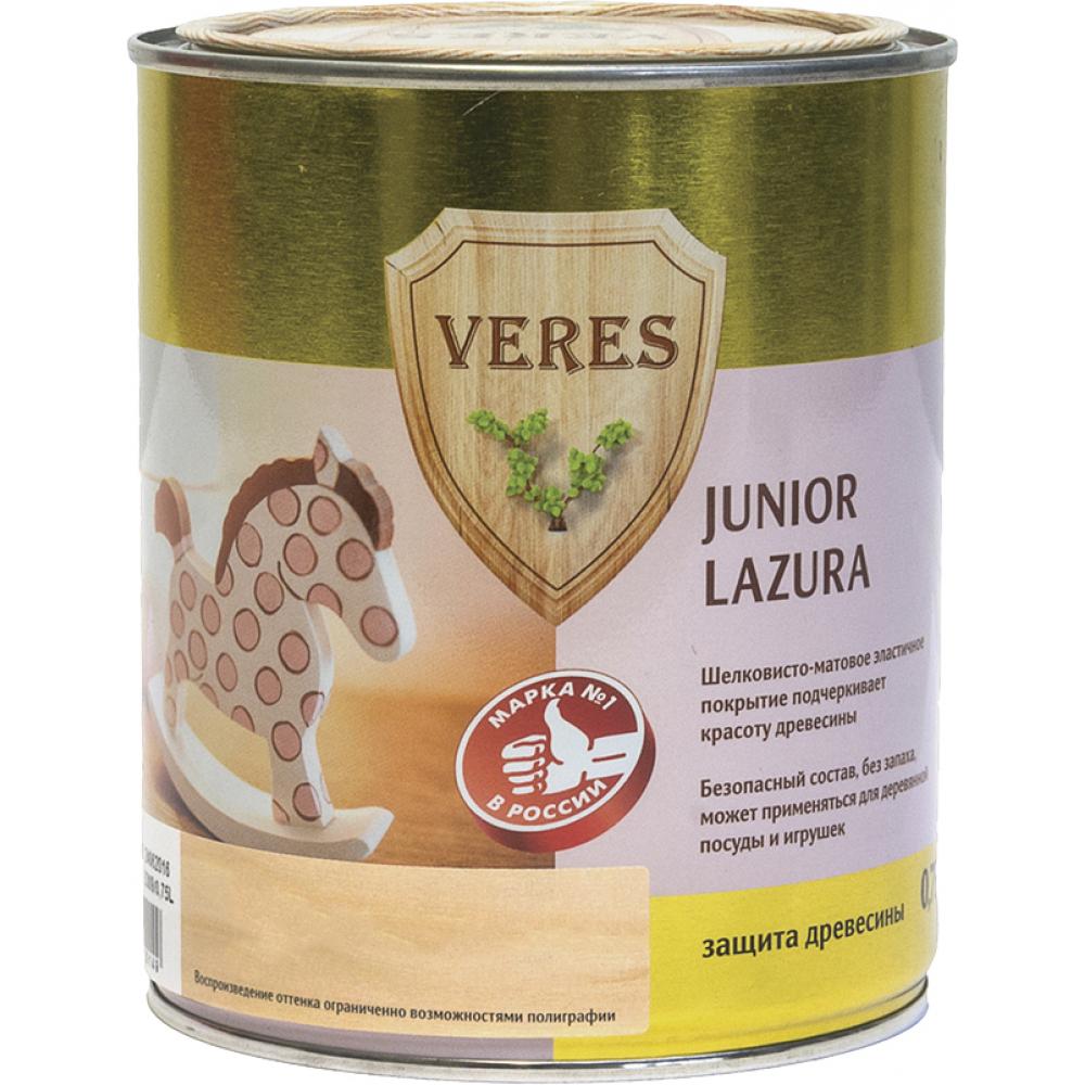 Купить Пропитка veres junior lazura №27 изумрудный 0.75 л 1/4 48884