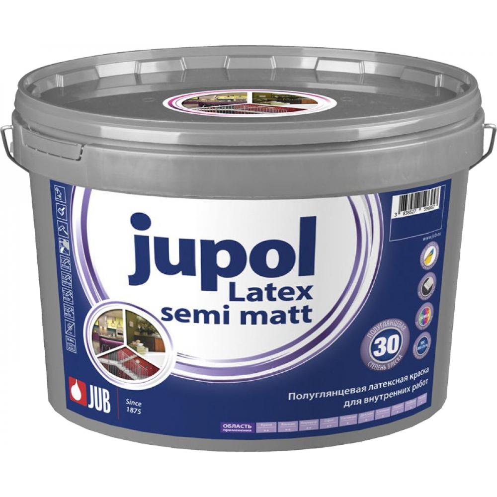 Купить Полуматовая латексная краска jub jupol latex semi matt для внутренних работ база с 1000 9 л 1/44 51242