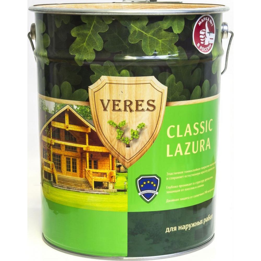 Купить Пропитка veres classic lazura №4 орех 20 л 1 42561