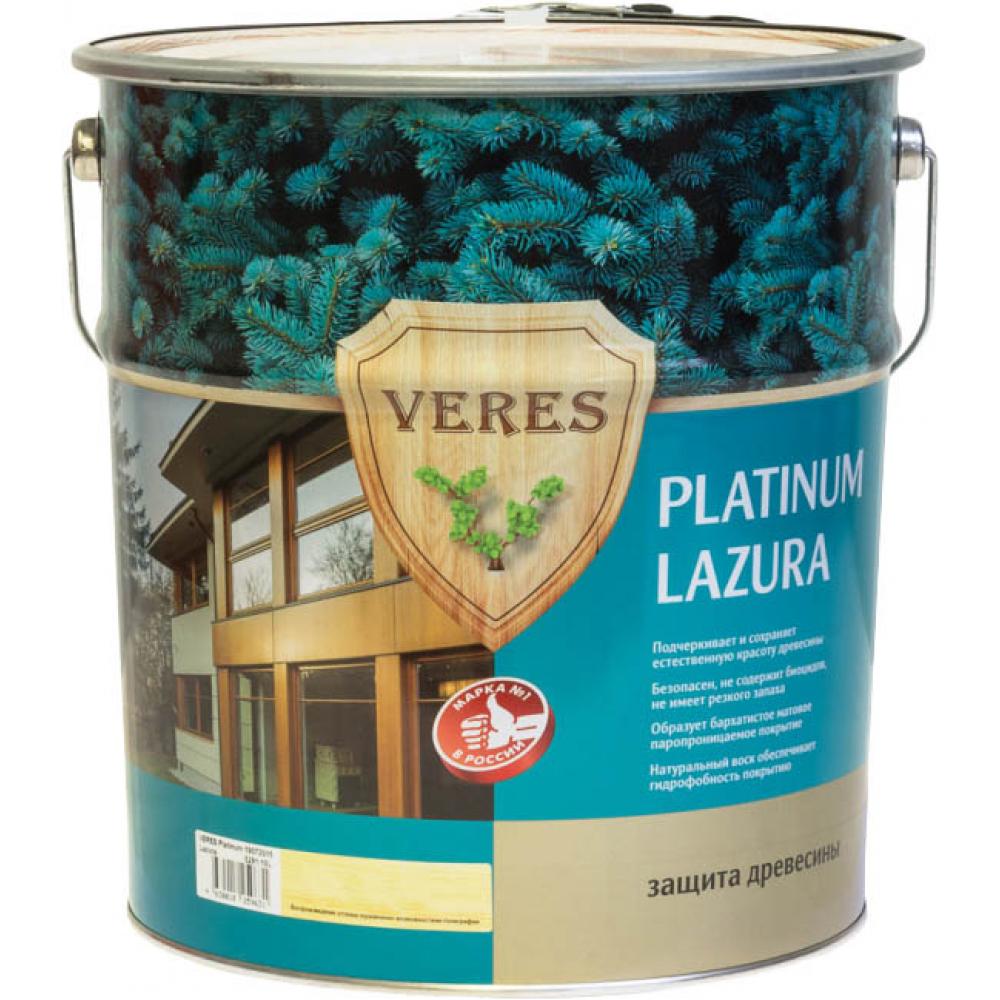 Купить Пропитка veres platinum lazura №7 махагон 10 л 1 48835
