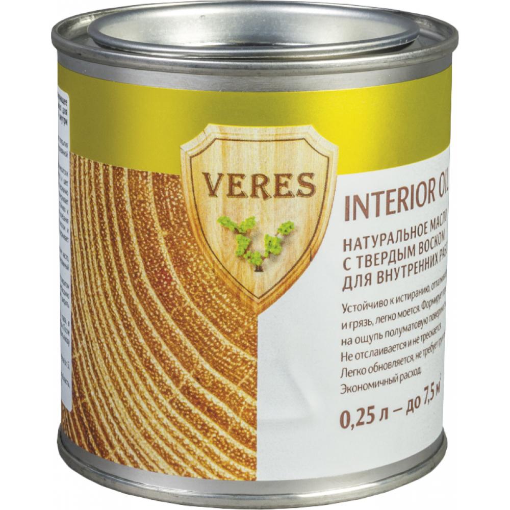 Купить Масло veres oil interior для внутренних работ №1 бесцветный 0.25 л 1/6 52289