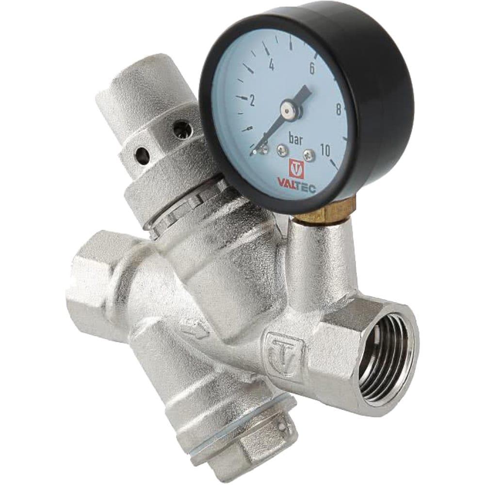 Купить Редуктор давления valtec с фильтром и манометром 3/4 2-5 бар vt.082.n.05