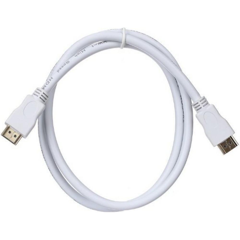 Купить Цифровой кабель tv-com hdmi19m to hdmi19m, v1.4+3d, 1m, белый cg150sw-1m