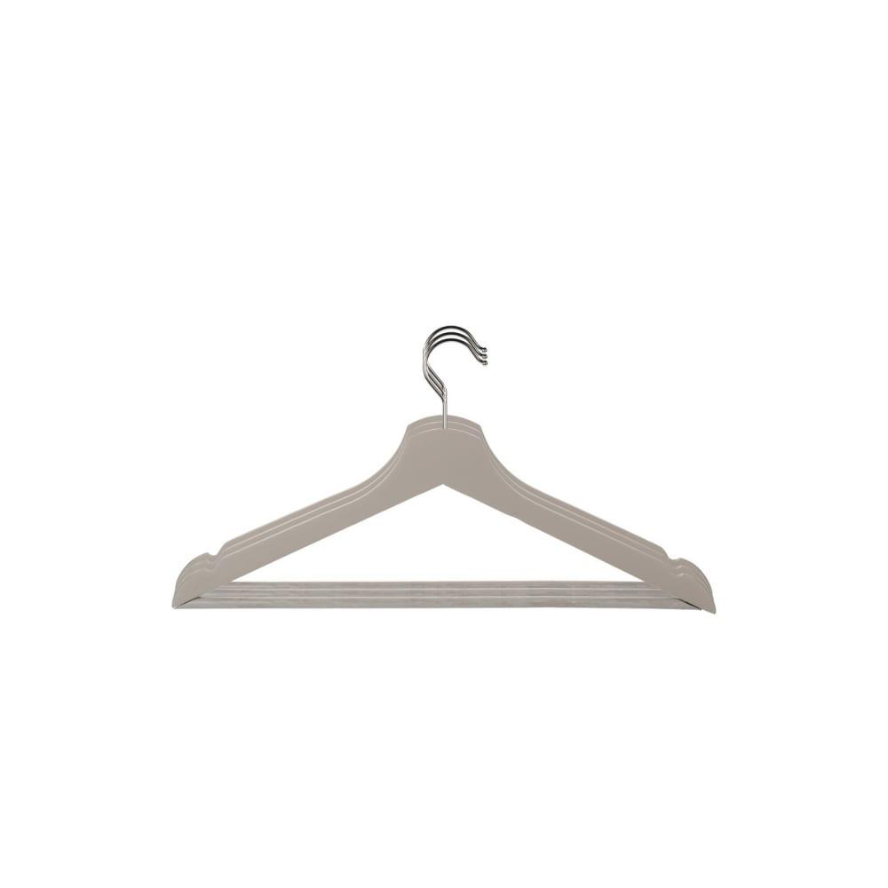 Набор универсальных деревянных вешалок attribute matte grey