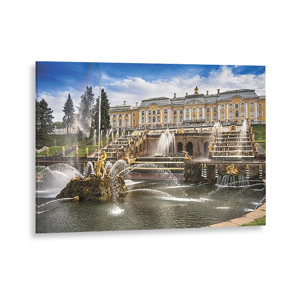 Картина на стекле декоретто фонтан нептун